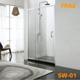 側面パネルの蒸気のシャワーのガラスドアのSanitarywareの簡単な部屋が付いている振動ドアのシャワー・カーテン