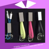 Câble de données mobile coloré avec porte-clés pour cadeau promotionnel