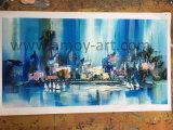Handmade bleu de l'huile sur toile peintures abstraites pour les murs