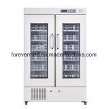 Refrigerador vertical novo do banco de sangue do refrigerador do armazenamento do sangue