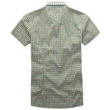 Chemise 100% courte du coton des hommes fabriquée en Chine