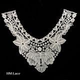 Collier élevé de collet de chemise de collier de polyester de broderie de lacet de lacet en bloc de collier pour le vêtement X021 de dames