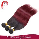 モンゴルのバージンOmberの赤くおよび黒くまっすぐな人間の毛髪の拡張