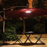 4 indicatore luminoso solare a pile dell'ombrello del patio della radio 28 LED di X aa