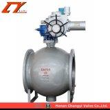 Fundición de acero Acero Inoxidable Electric Acuated Hemisferio excéntrico Válvula de bola