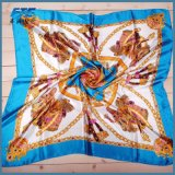 90*90cm carré Vintage Motif élégant Mesdames foulards d'impression des serviettes de plage