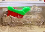 Indicatore luminoso di plastica su ordinazione LED Keychain di figura di Motobike con THK-023