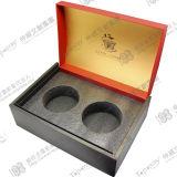 Schwarzer Zwischenlage-Schaumgummi-verpackengeschenk-Kasten mit Kappe &Base Art
