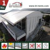 10X10 회의 회의 사무실을%s 유리벽 그리고 아BS 벽을%s 가진 움직일 수 있는 알루미늄 두 배 Decker 천막