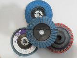 Roda de moagem abrasiva de venda a quente / disco de aleta abrasiva