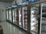 Congelatore di vetro dritto del portello di triplo del portello