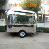 Jy-B84 Shanghai Fast Food Trailer card Stainless Steel Food Cart Chinese Food Truck