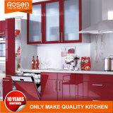As cores vermelho Porta de vidro pintado Armários de cozinha de design Online