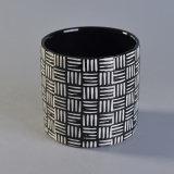 De nieuwe Houder van de Kaars van de Aankomst Ceramische met Weefsel Pattern