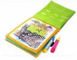 Magic Water чертеж тканью книга Раскраска Doodle Magic окраска перьев