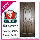 Economia de baixo preço, aço barato a porta de segurança para a construção do projeto (EF-S013)