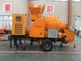 La bomba concreta del acoplado se puede arrastrar por un alimentador del motor a diversos sitios para el bombeo concreto y transportar