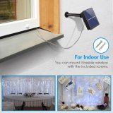 Lampada calda autoalimentata solare dell'indicatore luminoso leggiadramente della stringa del collegare di rame 120LED LED di bianco 12m