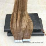 De Band van Remy in de Uitbreidingen van het Menselijke Haar Ombre Balayage #4 Bruin aan #27 Uitbreidingen van het Haar van de Kleur de Naadloze Pu van de Blonde van de Honing