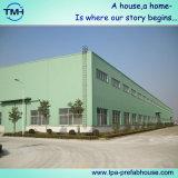 Edificio de la estructura de acero para el taller de reparaciones auto