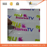 Verpacken-u. Drucken-Abziehbild-Aufkleber-Drucken-selbstklebender transparenter gedruckter Abzeichen-Kennsatz