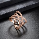 تقليد نمو مجوهرات مصنع بيع بالجملة [غلد رينغ] ثانويّة مع زركون