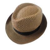 La aduana hace el sombrero de paja a mano corto del papel del sombrero de ala de Mann del borde