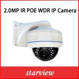 da segurança Vandalproof do CCTV de 2.0MP WDR IR câmera ao ar livre da abóbada do IP