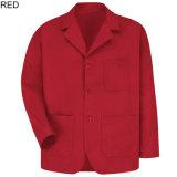 Couches de compteur de vêtements de travail du revers des hommes de mélange de polyester de coton