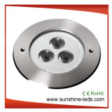 High Power LED IP68/LED luz enterrada bajo el agua de pared de luz LED de luz/