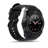 Ökonomisches volles - Ansicht runde Bildschirmanzeige-intelligente Uhr mit Bluetooth