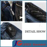 Plutônio magro da forma que emenda calças de brim do motociclista de Harlen para os homens (JC3399)