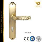 金カラーアラベスク様式(7059-Z6216)の真鍮のドアの版のハンドル