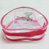 Sac de empaquetage promotionnel en plastique de cadeau de PVC de sac d'impression rose