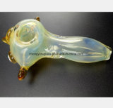 Light Yellow Glass Smokeing Pipe of Bird Shape Smoke Pipe