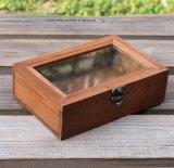 Прямоугольник Customzied деревянных ящиков для приготовления чая и деревянный ящик с 9 департаментов
