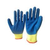 Baumwolle 10g mit blauer Latex-überzogenen Handschuhen