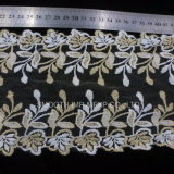 Bricolaje moda vestir Net encajes bordados de hilo Water-Soluble textil