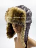 Шлем зимы Ushanka Lambskin & искусственной шерсти с щитком уха