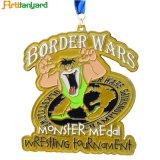 Medalha de metal promocional com logotipo do cliente
