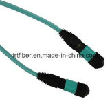 MPO/MTP Om3 50/125 섬유 Patchcord 물 색깔