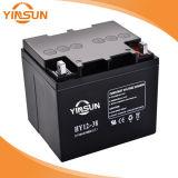 12V 38ahの黒い密封された鉛酸蓄電池