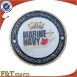 Высокое качество умирают латунные позолоченный задача металлические монеты сувениров (FTCN1915A)