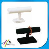 Montre Dispay de bracelet de bracelet de cuir blanc avec le cylindre trois amovible