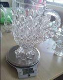 Taza de cristal agradable con la flor de la etiqueta Precio bueno