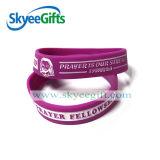 Wristband viola della gomma di silicone per l'adulto