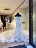大きいトレインの人魚のウェディングドレスの花嫁衣装