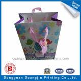 Kundenspezifisches neues Entwurfs-Papier-Geschenk-verpackenbeutel mit netter Geschenk-Marke