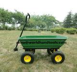 Grüner Garten-Karren-Kippwagen-Schlussteil-Rasen dreht die Hochleistungs Walzen-Speicher-Lastwagen-Träger-Eber-Luft-Gummireifen