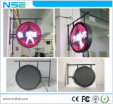 Acrylique rond extérieur formant le signe fixé au mur de la forme ronde DEL